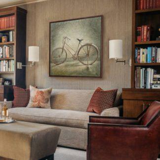 Xe đạp - Tranh vẽ sơn dầu 100x100 cm