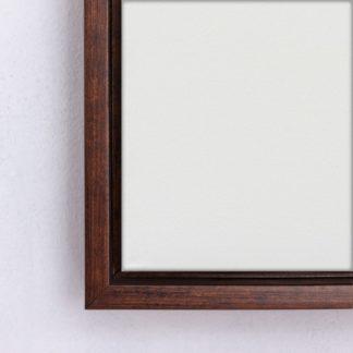 khung tranh canvas float nâu