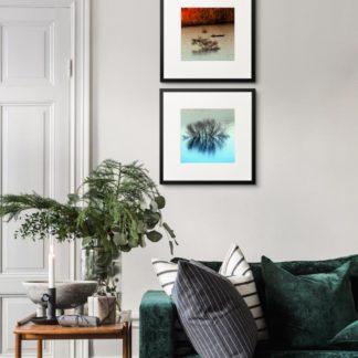 Bộ 2 tranh khung kính treo tường Hot & Cold 50x50 cm/ tranh