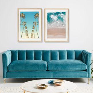 Bộ 2 tranh khung kính treo tường Summer Vibe