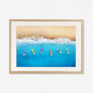 Tranh khung kính treo tường Summer Beach