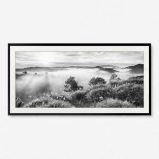 Tranh khung kính treo tường Sương trên núi