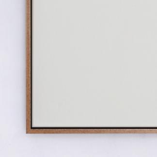 khung tranh canvas float vàng đen