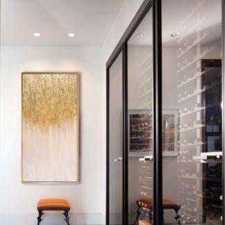 Golden Light - Tranh ánh kim sơn dầu treo tường 70x140 cm