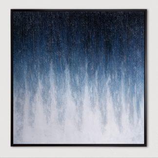 Marine - Tranh ánh kim sơn dầu treo tường 80x80 cm