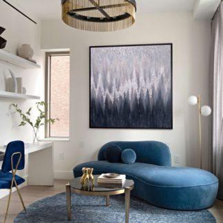 Skyline - Tranh sơn dầu ánh kim treo tường 80x80 cm