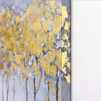 Golden forest - Tranh ánh kim sơn dầu treo tường 80x120 cm