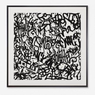 Tranh khung kính treo tường Graffiti