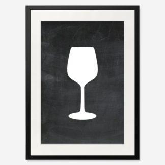 tranh-khung-kinh-b&w-wine-glass