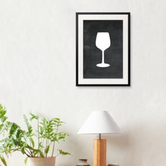 Wine Glass - Tranh khung kính treo tường B&W