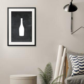 Bottle - Tranh khung kính treo tường B&W
