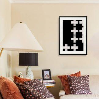 Plus - Tranh khung kính treo tường B&W