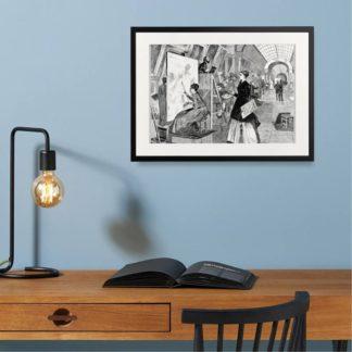 Art Student - Tranh khung kính treo tường B&W