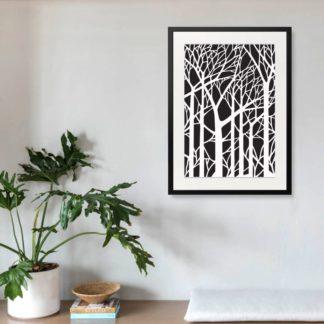 Branches - Tranh khung kính treo tường B&W