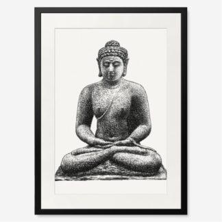 tranh-khung-kinh-treo-tuong-Budda-on-the-Borobudur