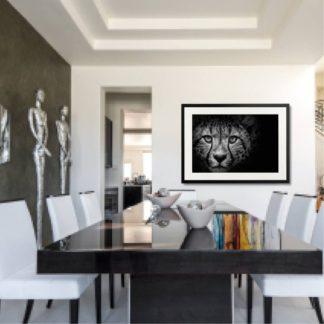Cheetah - Tranh khung kính treo tường B&W