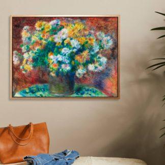 Chrysanthemums - Tranh canvas treo tường danh hoạ  Pierre-Auguste Renoir.