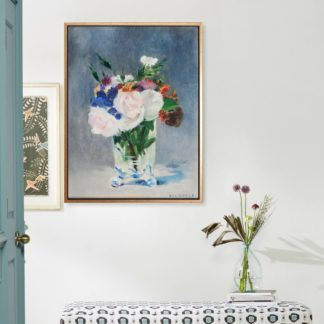Flowers in a crystal vase - Tranh canvas treo tường danh hoạ Edouard Manet