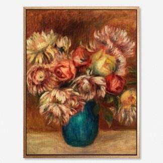Flowers in a green vase - Tranh canvas treo tường danh hoạ