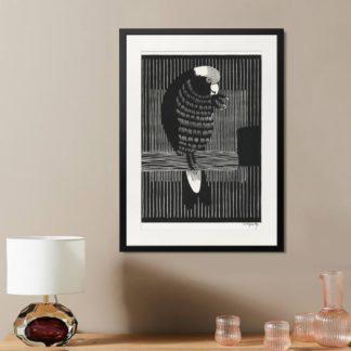 Galah Cockatoos - Tranh khung kính treo tường B&W