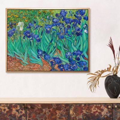 Irises 1889 - Tranh canvas treo tường danh hoạ