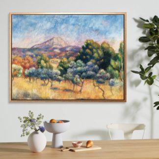 Montagne Sainte - Tranh canvas treo tường danh hoạ Pierre-Auguste Renoir