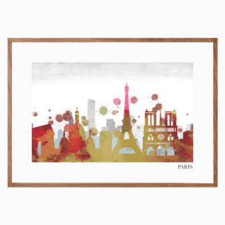 Poster Paris color treo tường