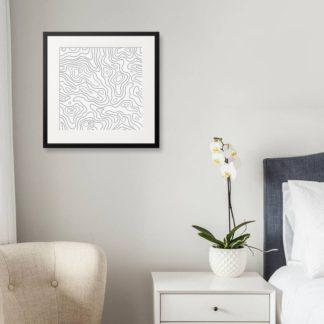 The lines pattern - Tranh khung kính treo tường B&W