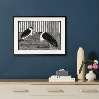Two maraboos - Tranh khung kính treo tường B&W