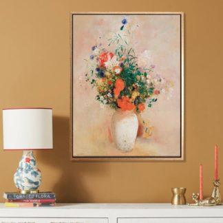 Vase of flowers - Tranh canvas treo tường danh hoạ Odilon Redon
