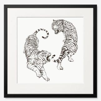 tranh-khung-kinh-treo-tuong-Roaring-Tiger