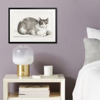 Mèo - Tranh khung kính treo tường B&W