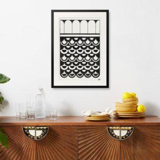 Ornament of scales - Tranh khung kính treo tường B&W