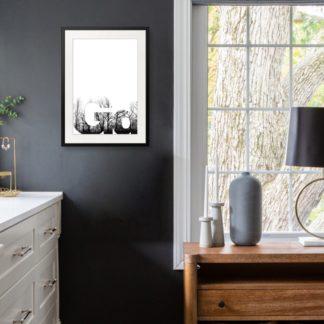 Typo 2 - Tranh khung kính treo tường B&W