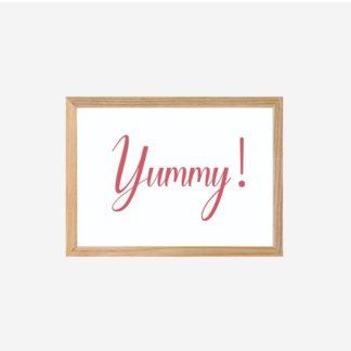 Yummy - Tranh khung kính treo tường 18x24cm