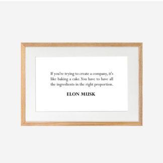 Elon Musk quote - Tranh khung kính treo tường 21x30cm