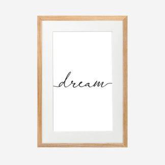 Dream - Tranh khung kính treo tường 21x30 cm