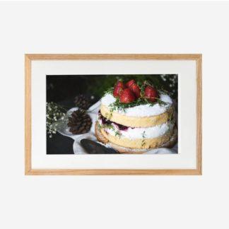 Strawberry Pancake - Tranh khung kính treo tường 21x30cm