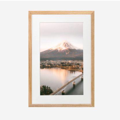 Fuji Mountain - Tranh khung kính gỗ sồi treo tường 21x30cm