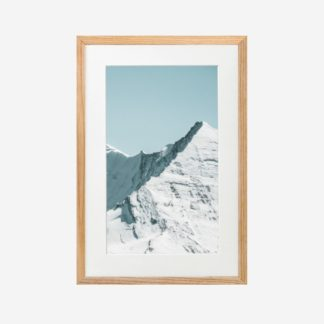 Snow moutain - Tranh khung kính treo tường 21x30cm
