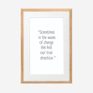 True Direction - Tranh khung kính treo tường 21x30cm