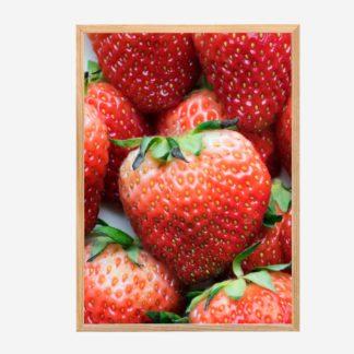 Strawberries - Tranh khung kính treo tường 30x42cm