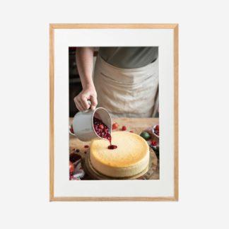 Make a cake - Tranh khung kính treo tường 30x42cm