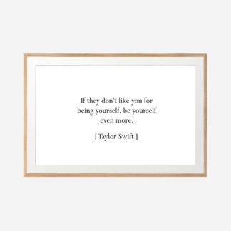 Be Yourself 1 - Tranh khung kính treo tường 40x60cm