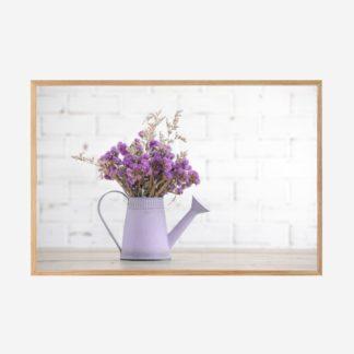 Purple Flowers In A Vase - Tranh khung kính treo tường 40x60cm