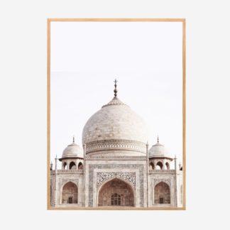 Taj Mahal - Tranh khung kính gỗ sồi treo tường 50x70 cm