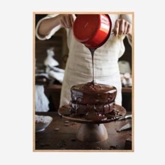 Chocolate cake - Tranh khung kính treo tường 50x70cm
