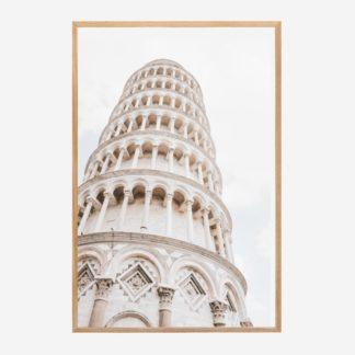 Piazza Dei Miracoli - Tranh khung kính gỗ sồi treo tường 40x60 cm