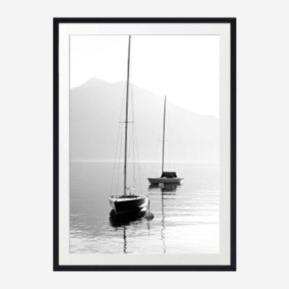 Mono Boat 2 - Tranh khung kính treo tường 30x42