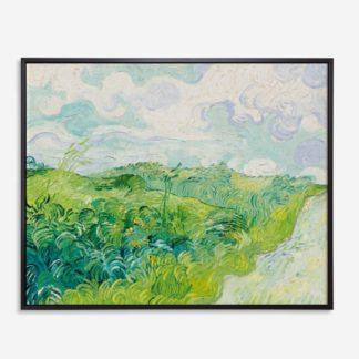 Green Wheat Fields, Auvers (1890) - Tranh canvas treo tường danh hoạ 80x100 cm